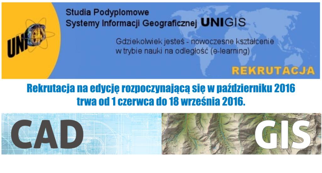 Studia Podyplomowe UJ – Systemy Informacji Geograficznej UNIGIS