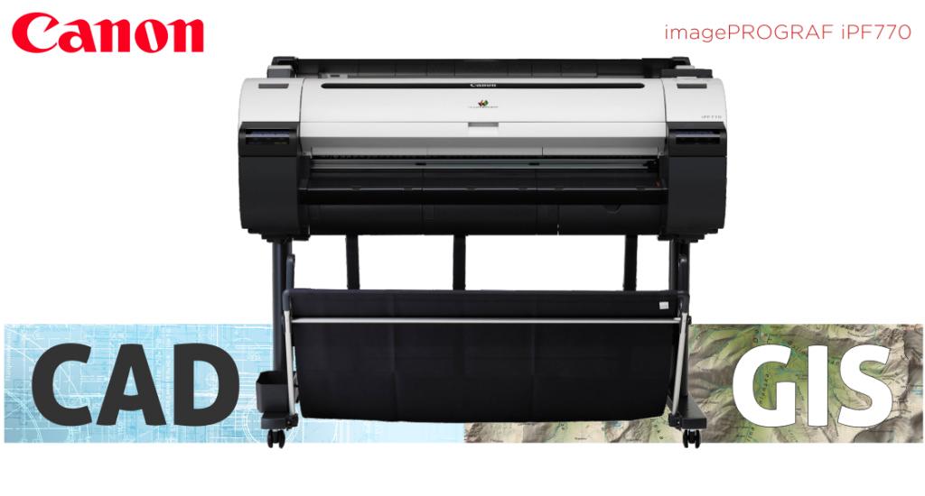 Ploter Canon iPF 770 do druku dokumentacji CAD